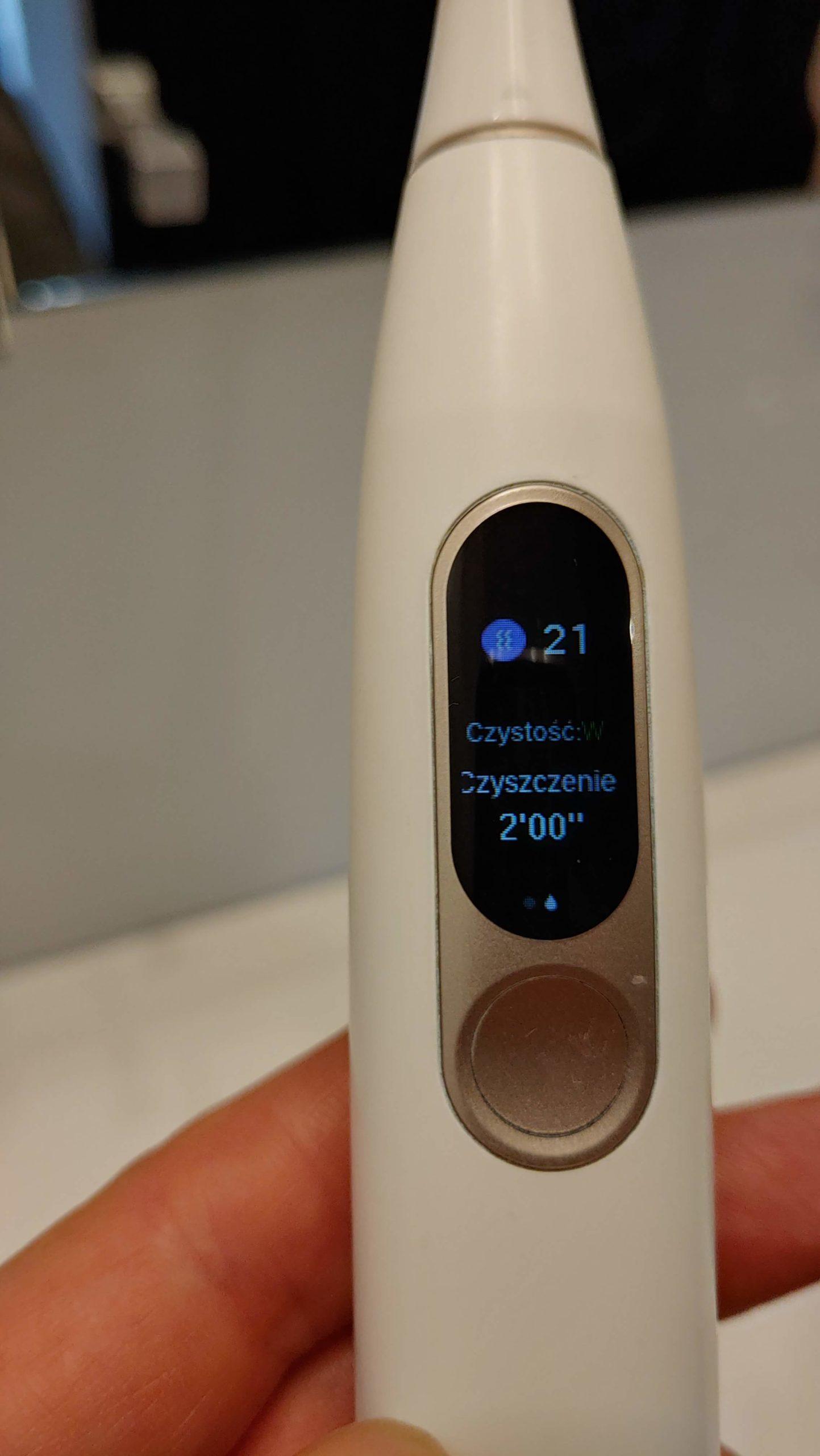 Xiaomi Oclean X LCD biała szczoteczka soniczna z wyświetlaczem